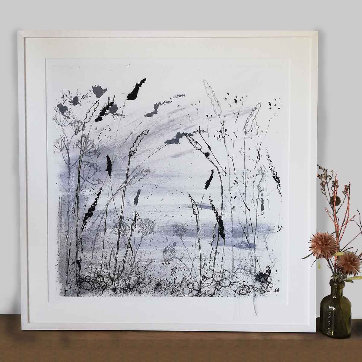 Autumn Shoreline Framed Print by Artist Ellie Hipkin