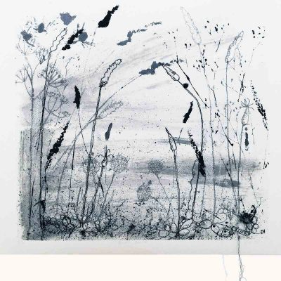 Autumn Shoreline Textile Art Print By Artist Ellie Hipkin