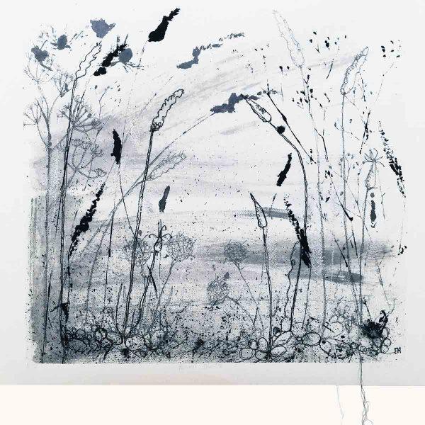 Autumn Shoreline Textile Art Print By Artist Ellie Hipkin