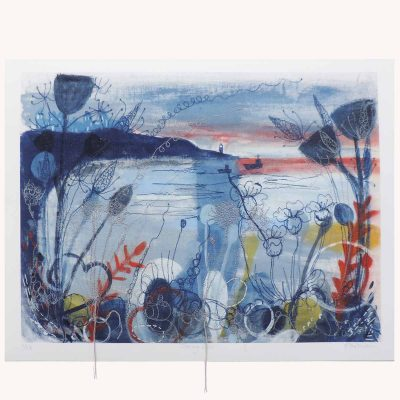 Evening Light Textile Art Print By Artist Ellie Hipkin