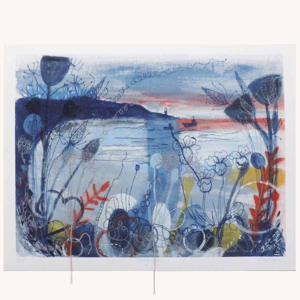 Evening Light Textile Art Print By Artist Ellie Hipkin