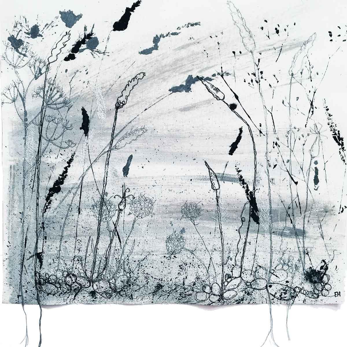 Autumn Shoreline Original painting front page by artist Ellie Hipkin