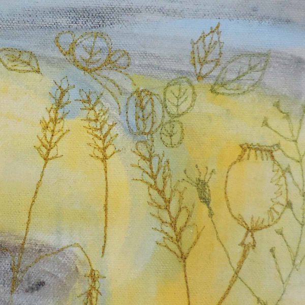 Harvest Fields Close up by artist Ellie Hipkin
