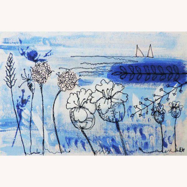 Sea Blues Original Painting by Artist Ellie Hipkin