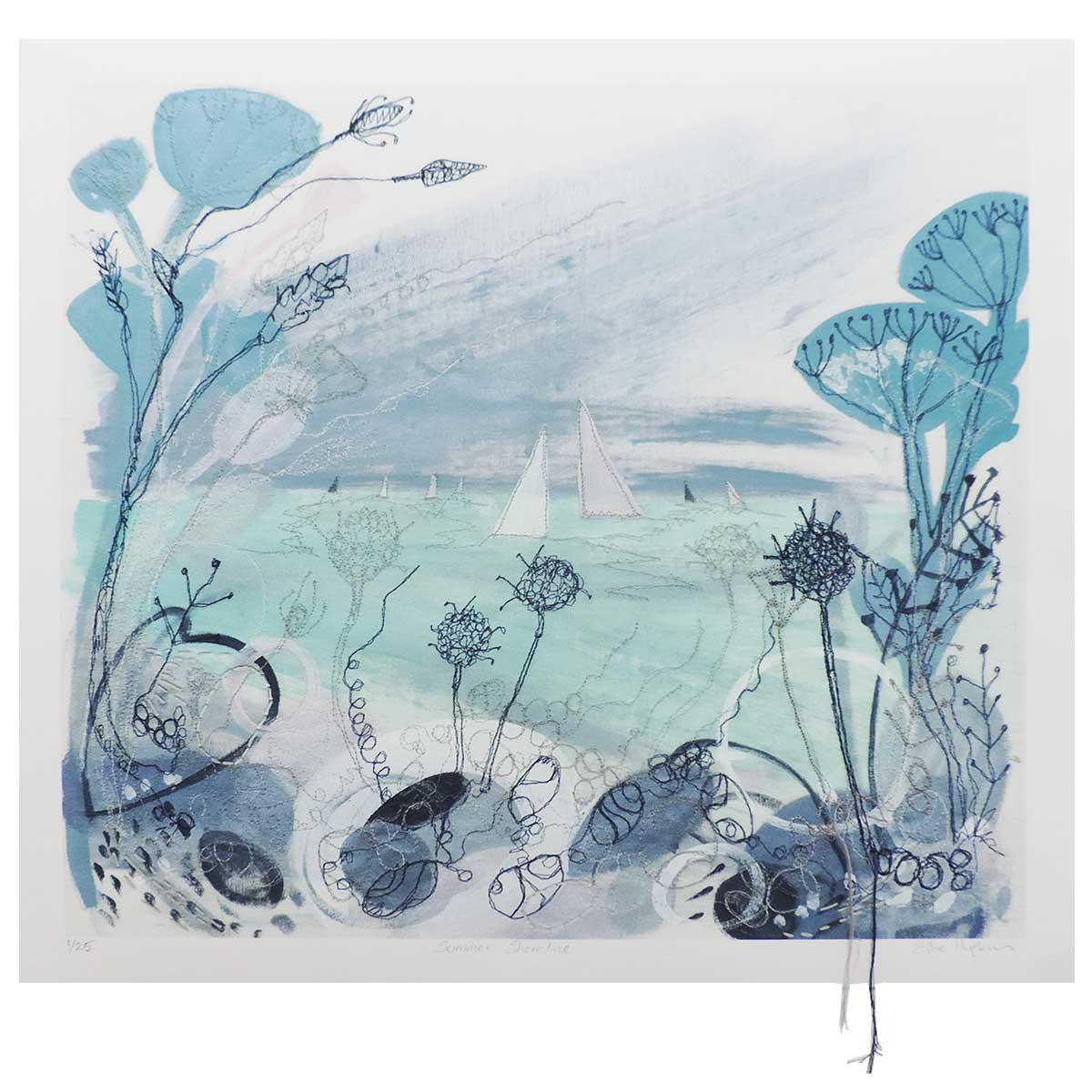Summer Shoreline art print by artist Ellie Hipkin