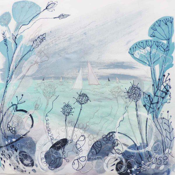 Summer Shoreline Original painting by artist Ellie Hipkin
