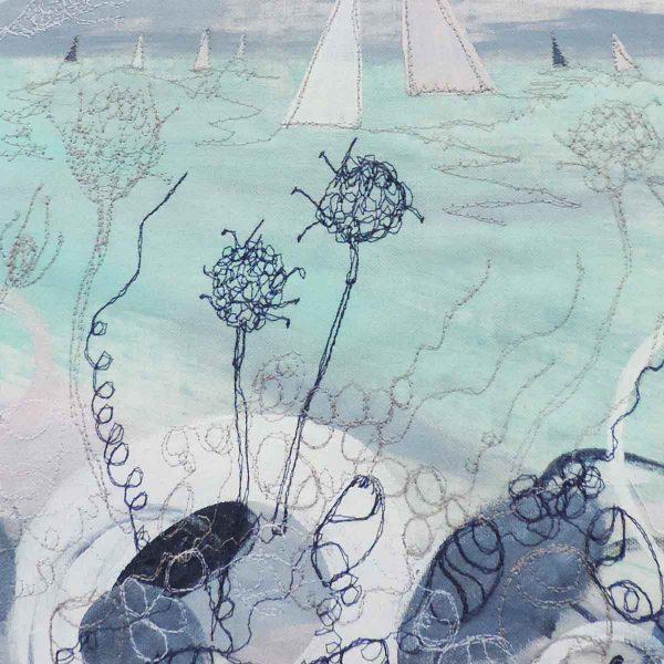 Summer Shoreline close up Original painting by artist Ellie Hipkin