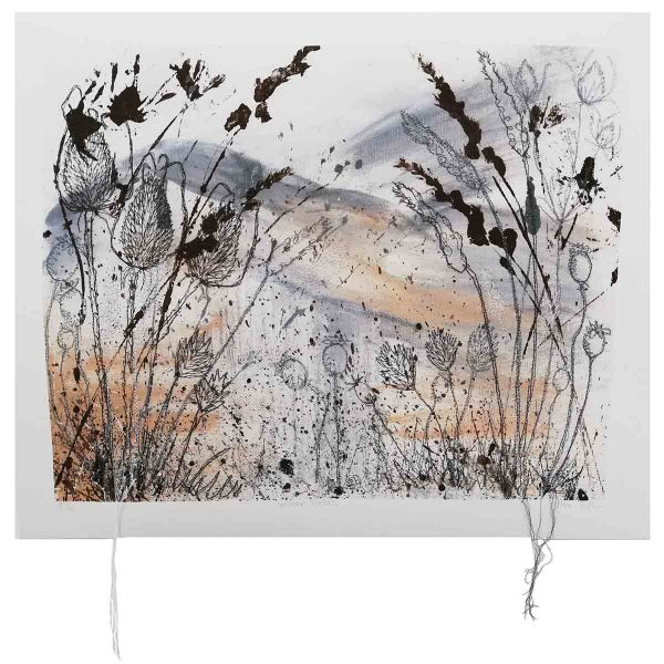 Winter Fields Art Print by textile artist Ellie Hipkin