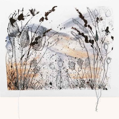 Winter Fields Textile Art Print By Artist Ellie Hipkin