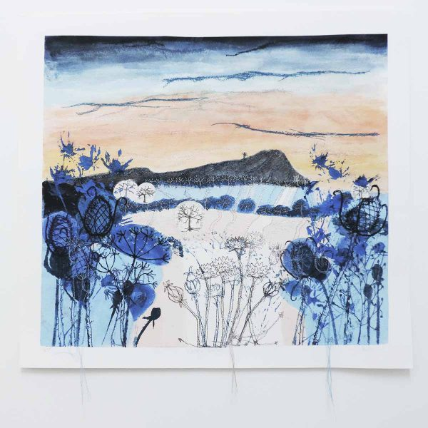 Winter Light Art Print by Textile Artist Ellie Hipkin