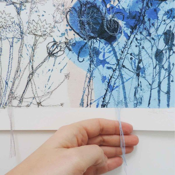 Winter Light embroidered print by Artist Ellie Hipkin