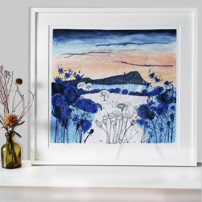 Winter Light Framed print by Artist Ellie Hipkin