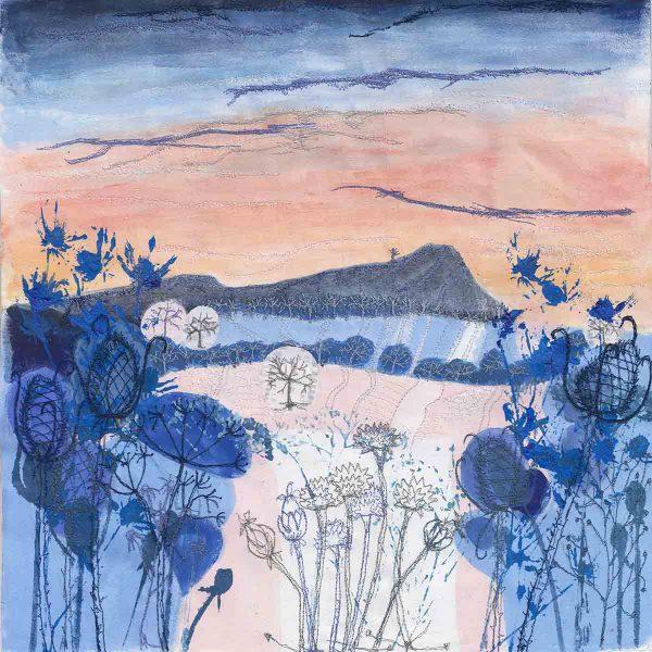 Winter Light original painting by artist Ellie Hipkin