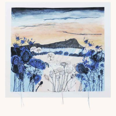 Winter Light Textile Art Print By Artist Ellie Hipkin