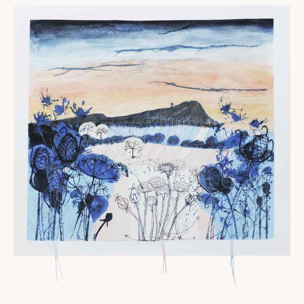 Winter Light Textile Art Print By Artist Ellie Hipkin