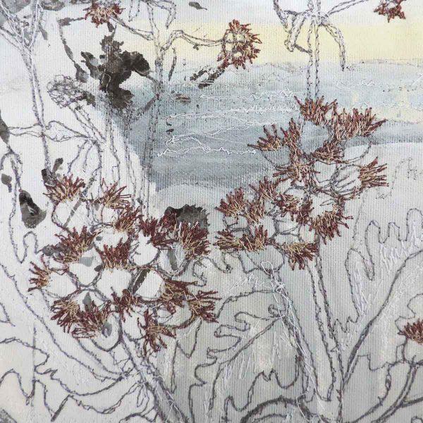Winter Sea Mist close up Original Painting by artist Ellie Hipkin