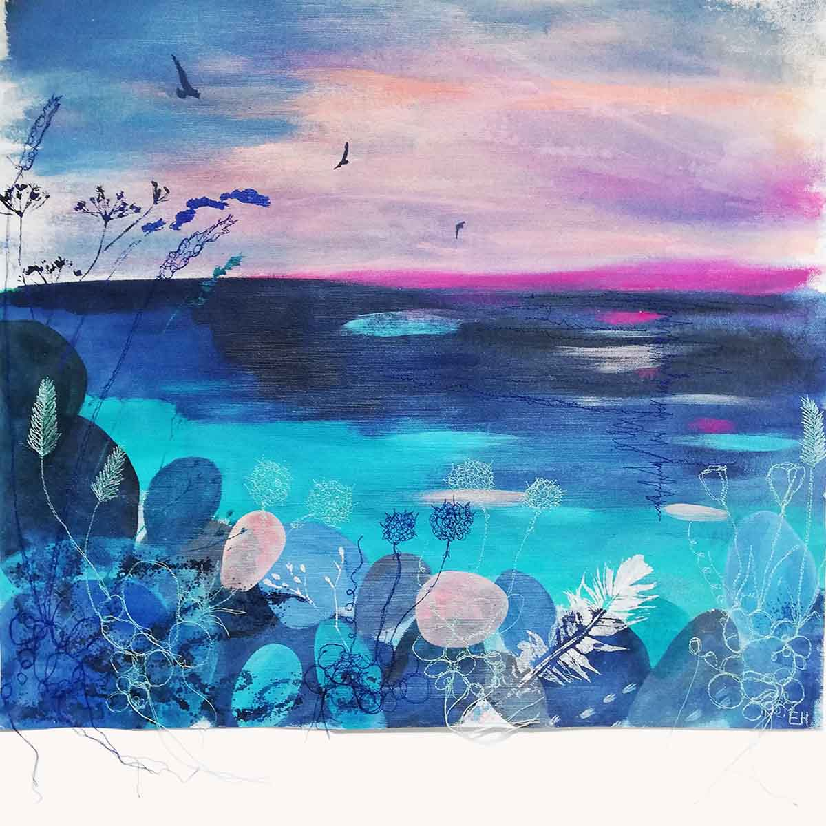 Calm Original painting by Artist Ellie Hipkin